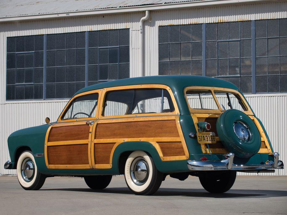 1949 Ford Custom StationWagon retro    d wallpaper