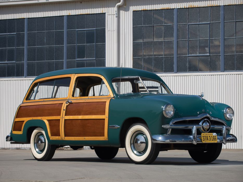 1949 Ford Custom StationWagon retro wallpaper