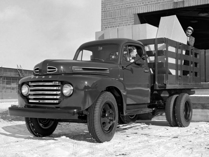 1949 Ford F-4 truck transport wallpaper