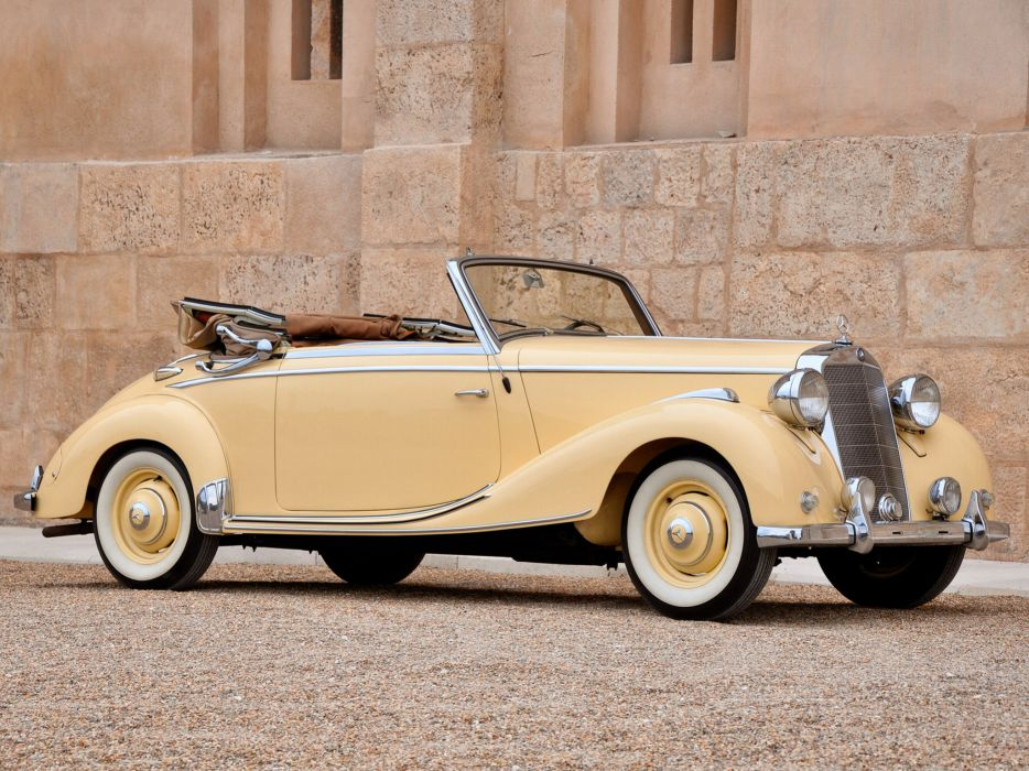 1949 Mercedes Benz 170S Cabriolet A 1949 retro luxury        g wallpaper