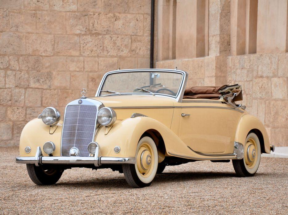 1949 Mercedes Benz 170S Cabriolet A 1949 retro luxury wallpaper