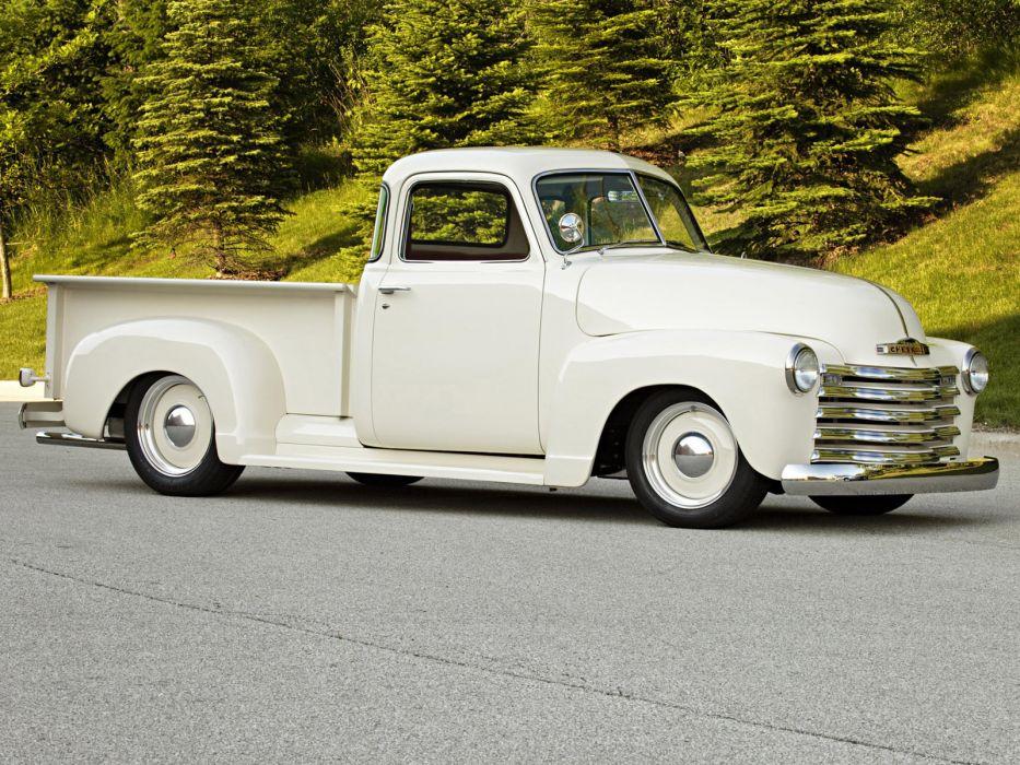 1949 Roadster Shop Chevrolet Pickup truck lowrider retro custom hot rod rods    fg wallpaper