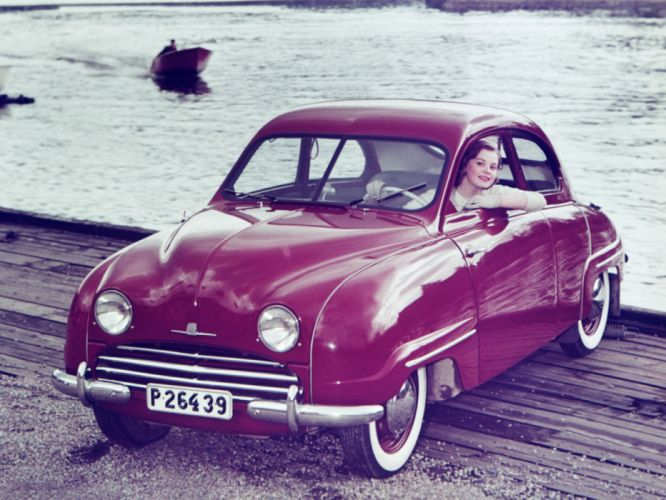 1949 Saab 92 retro g wallpaper