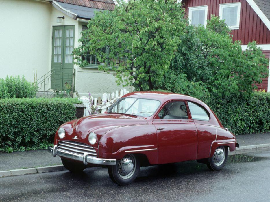 1949 Saab 92 retro j wallpaper