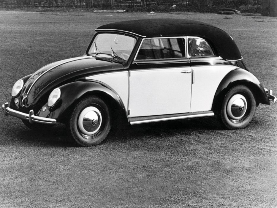 1949 Volkswagen Beetle Karmann Cabriolet retro   gd wallpaper