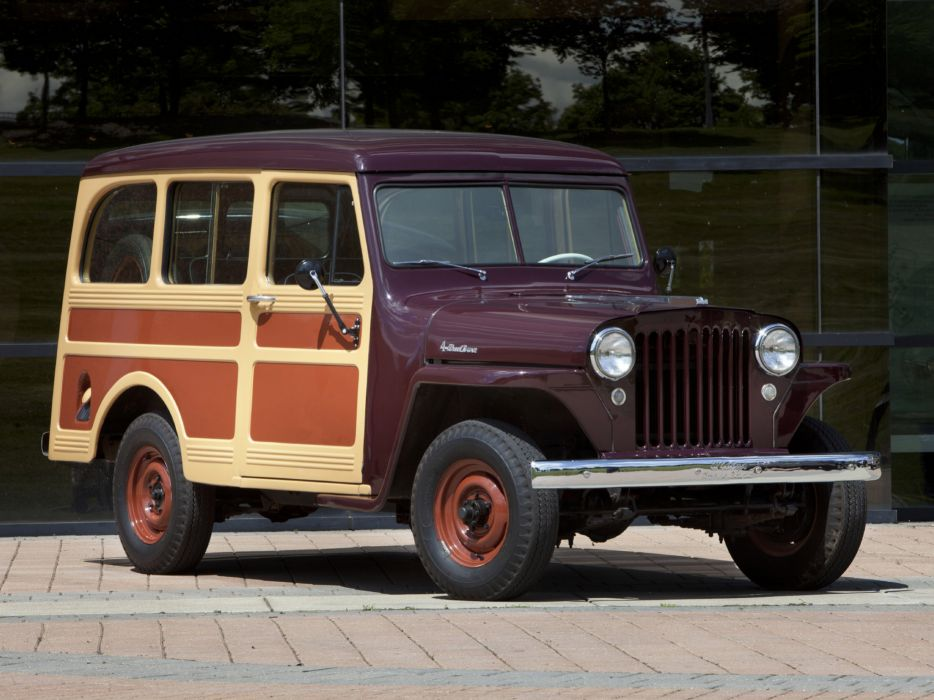 1949 Willys StationWagon jeep 4x4 retro      g wallpaper