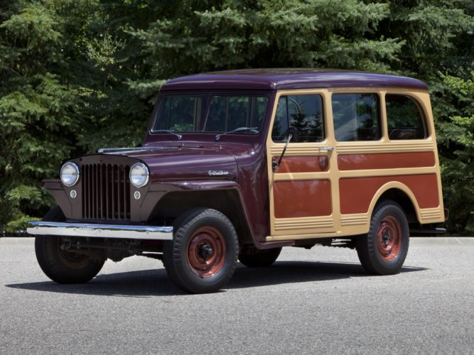 1949 Willys StationWagon jeep 4x4 retro wallpaper