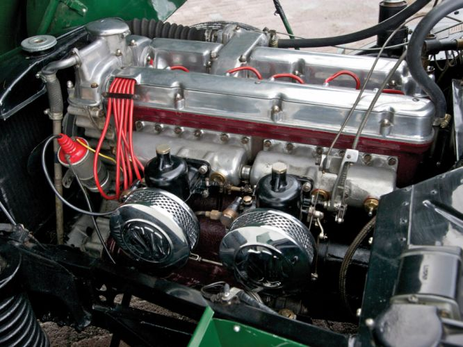 1950 Aston Martin DB2 Vantage Drophead Coupe retro engine engines f wallpaper