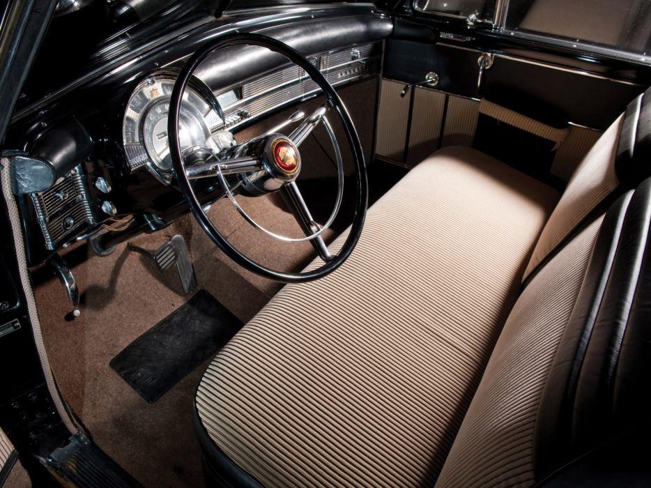 1950 Chrysler Town & Country Newport Coupe retro interior wallpaper
