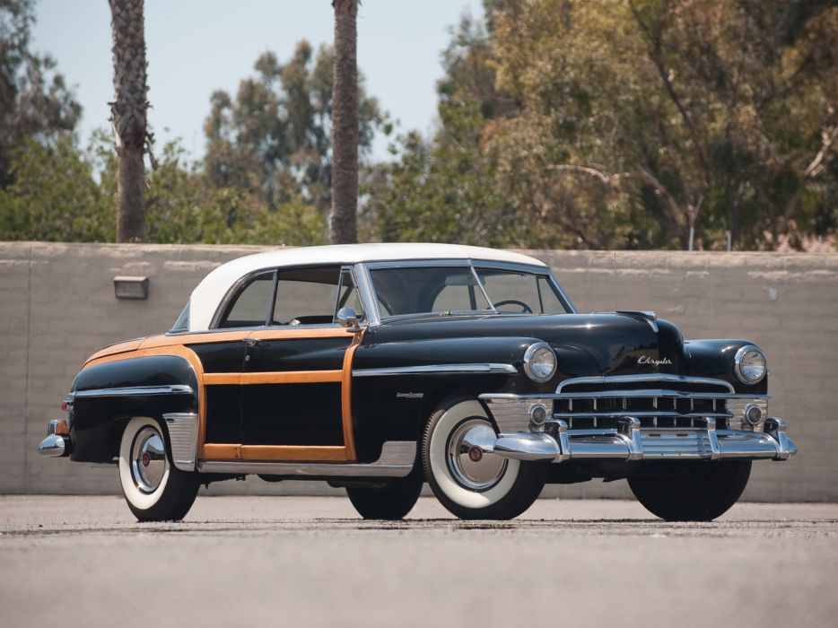 1950 Chrysler Town & Country Newport Coupe retro   g wallpaper