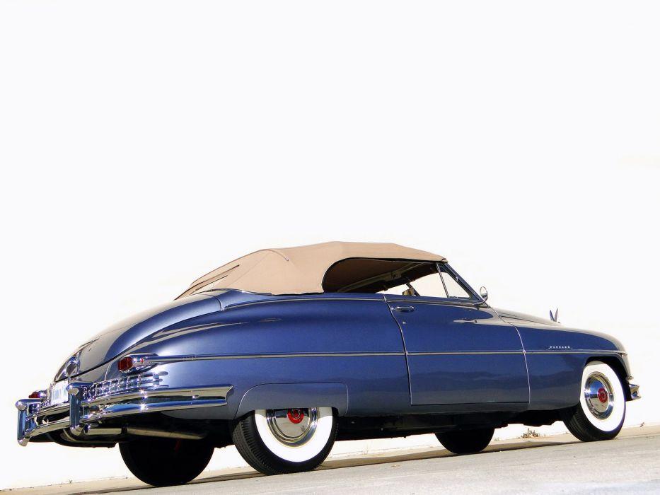 1950 Packard Custom Eight Convertible Coupe retro luxury   g wallpaper
