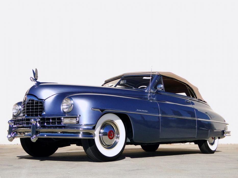 1950 Packard Custom Eight Convertible Coupe retro luxury wallpaper
