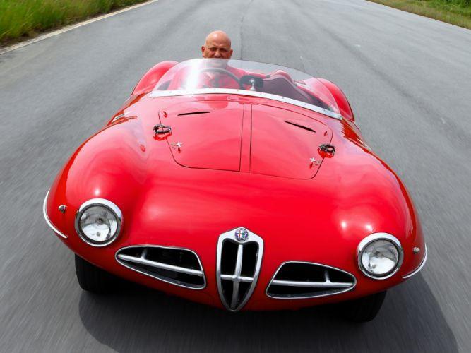 1951 Alfa Romeo 1900 C52 Disco Volante Spider retro supercar supercars f wallpaper