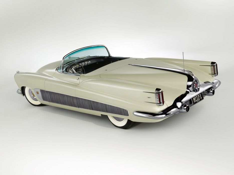 1951 Buick XP-300 Concept Car retro interior wallpaper
