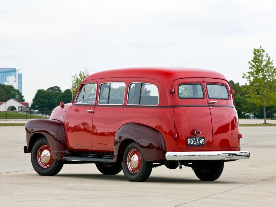 1951 Chevrolet Suburban Carryall suv truck  g wallpaper
