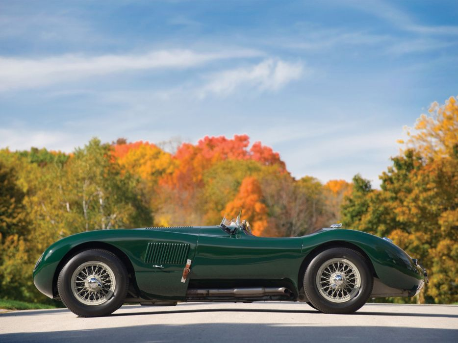 1951 Jaguar C-Type retro supercar supercars race racing      g wallpaper