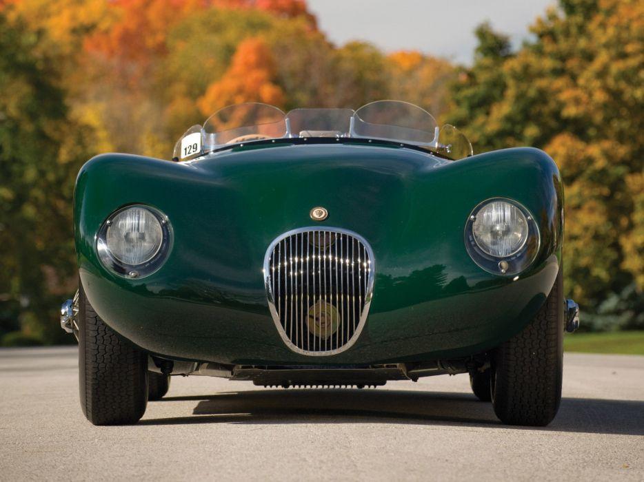 1951 Jaguar C-Type retro supercar supercars race racing  g wallpaper