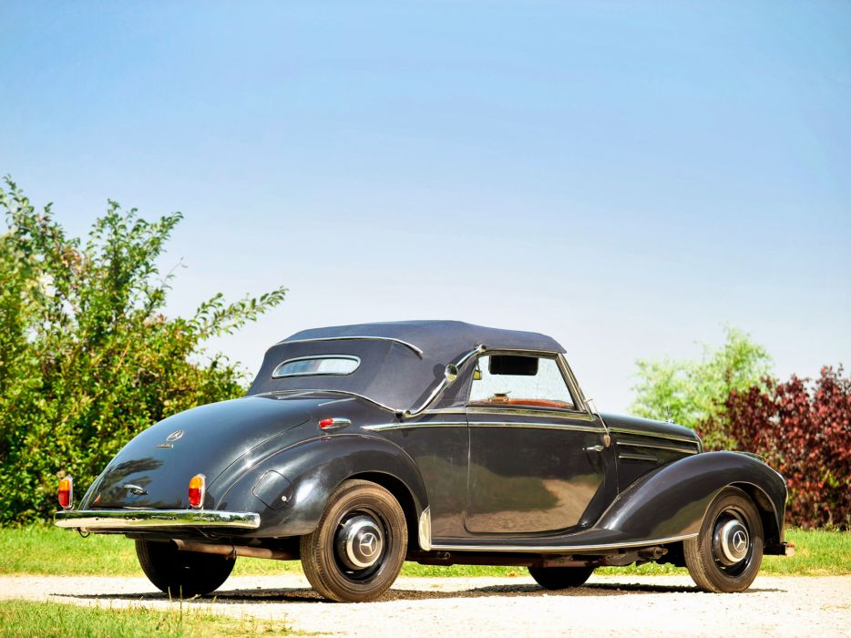 1951 Mercedes Benz 220 Cabriolet A W187 retro   g wallpaper