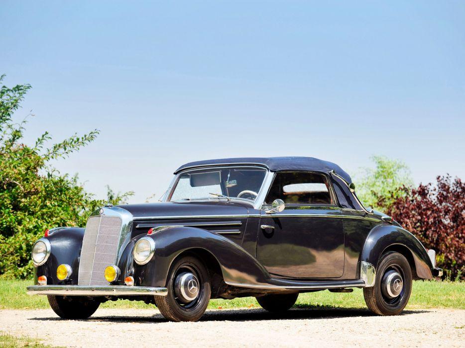 1951 Mercedes Benz 220 Cabriolet A W187 retro wallpaper