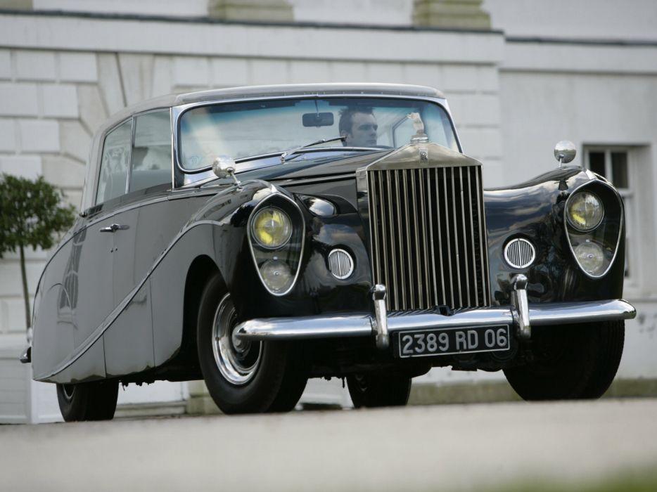 1951 Rolls Royce Wraith Perspex retro luxury wallpaper