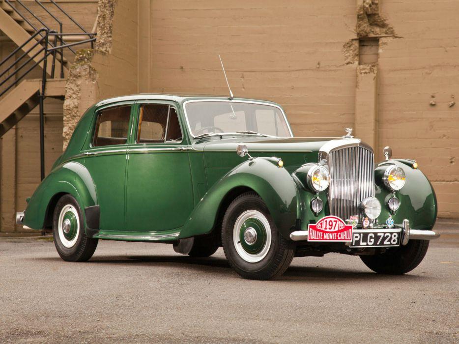 1952 Bentley R-Type Standard Saloon retro luxury     f wallpaper