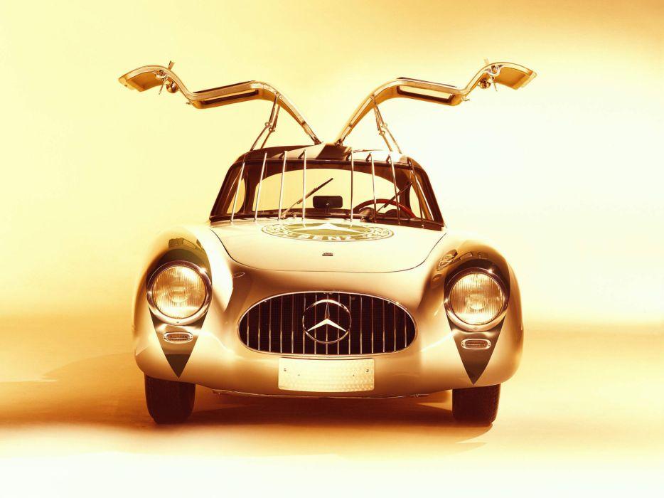1952 Mercedes 300SL Racing Sport Coupe W194 retro supercar supercars race racing   f wallpaper