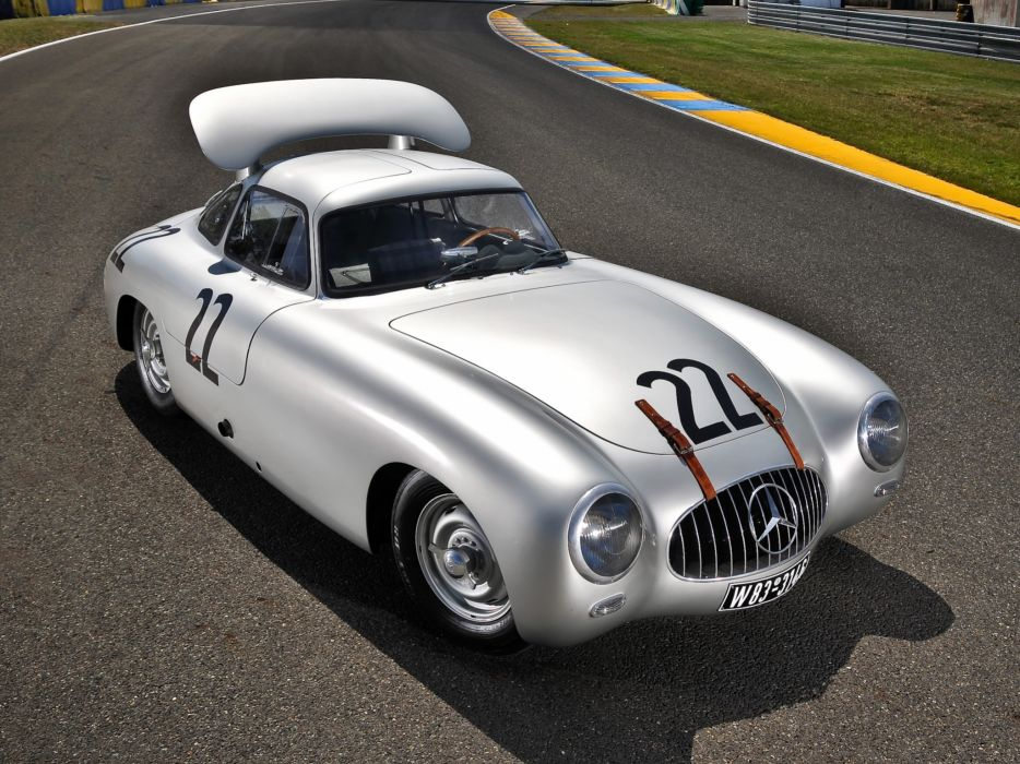 1952 Mercedes Benz 300SL Le Mans Prototype W194 retro supercar supercars race racing wallpaper