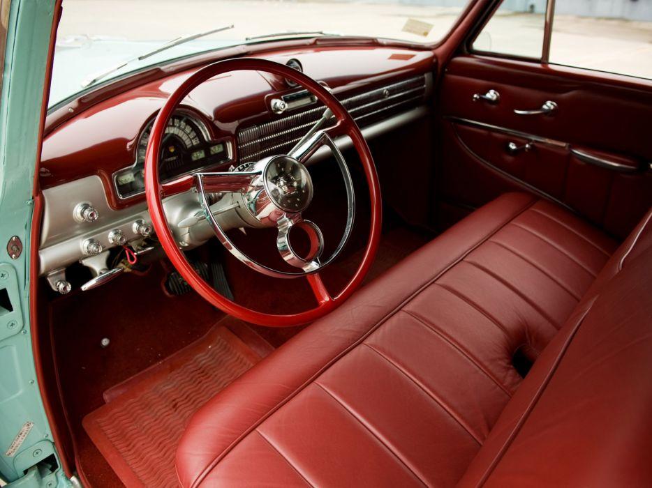 1952 Oldsmobile Super 88 Convertible 8-8 retro interior wallpaper