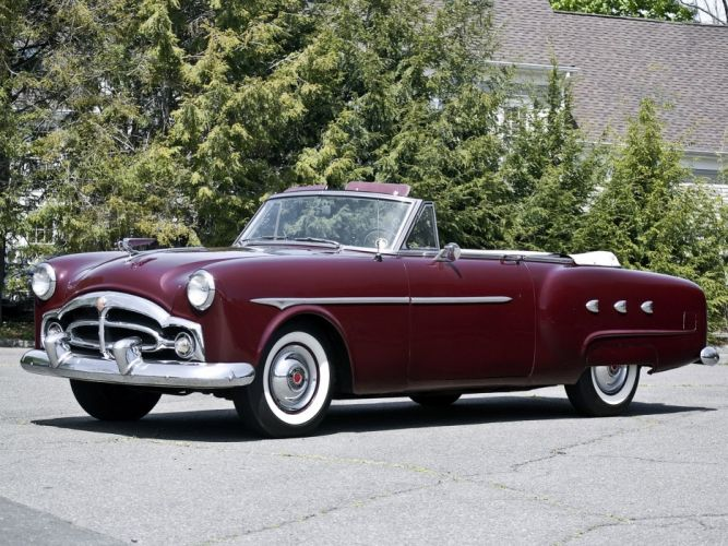 1952 Packard 250 Convertible Coupe retro f wallpaper