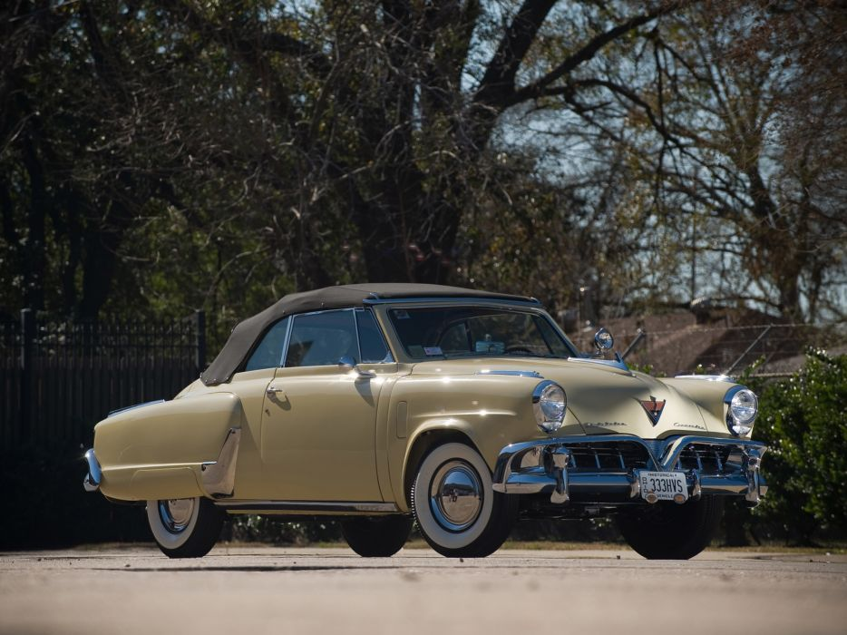 1952 Studebaker Commander State Convertible retro luxury wallpaper