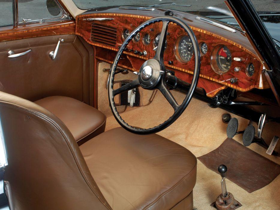 1953 Bentley R-Type Continental Fastback retro luxury interior wallpaper