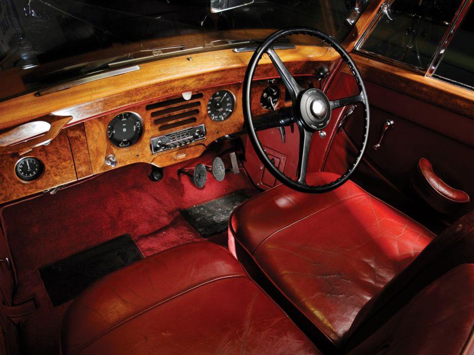 1953 Bentley R-Type Drophead Coupe Park Ward luxury retro interior wallpaper