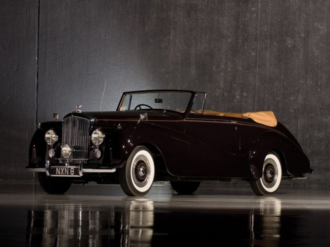 1953 Bentley R-Type Drophead Coupe Park Ward luxury retro wallpaper