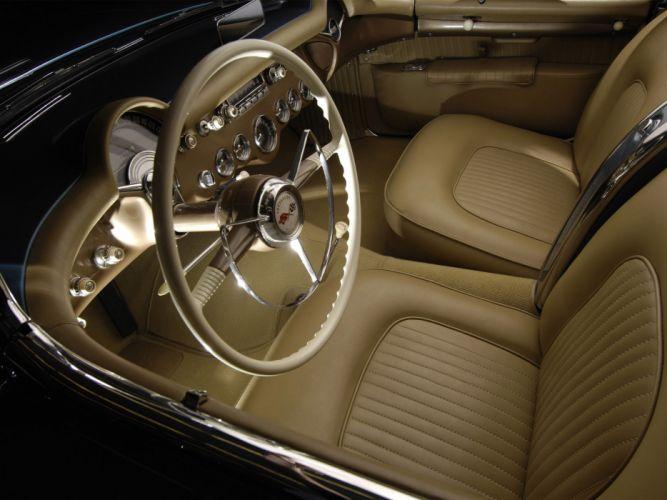1953 Chevrolet Corvette C1 retro supercar supercars muscle c-1 interior wallpaper
