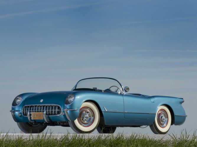 1953 Chevrolet Corvette C1 retro supercar supercars muscle c-1 wallpaper