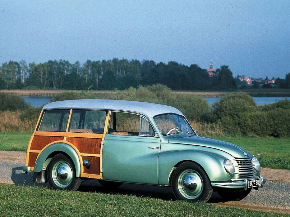 1953 DKW F89 Universal stationwagon retro wallpaper