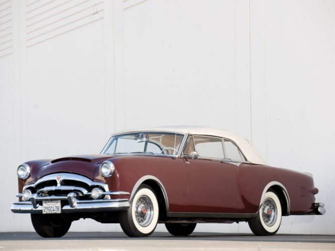 1953 Packard Caribbean Convertible Coupe retro luxury fs wallpaper