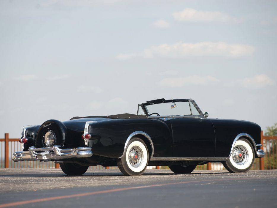 1953 Packard Caribbean Convertible Coupe retro luxury    b wallpaper