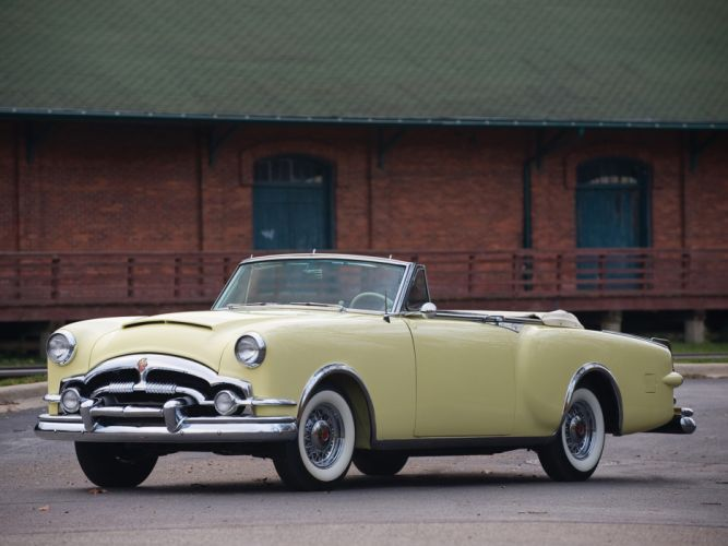1953 Packard Caribbean Convertible Coupe retro luxury fd wallpaper