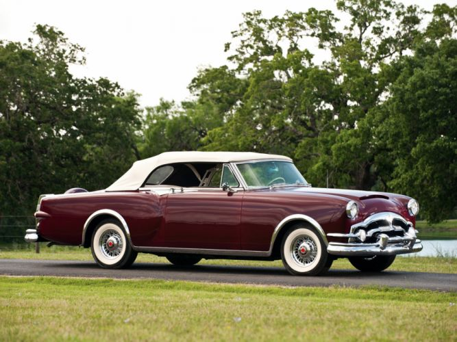 1953 Packard Caribbean Convertible Coupe retro luxury f wallpaper