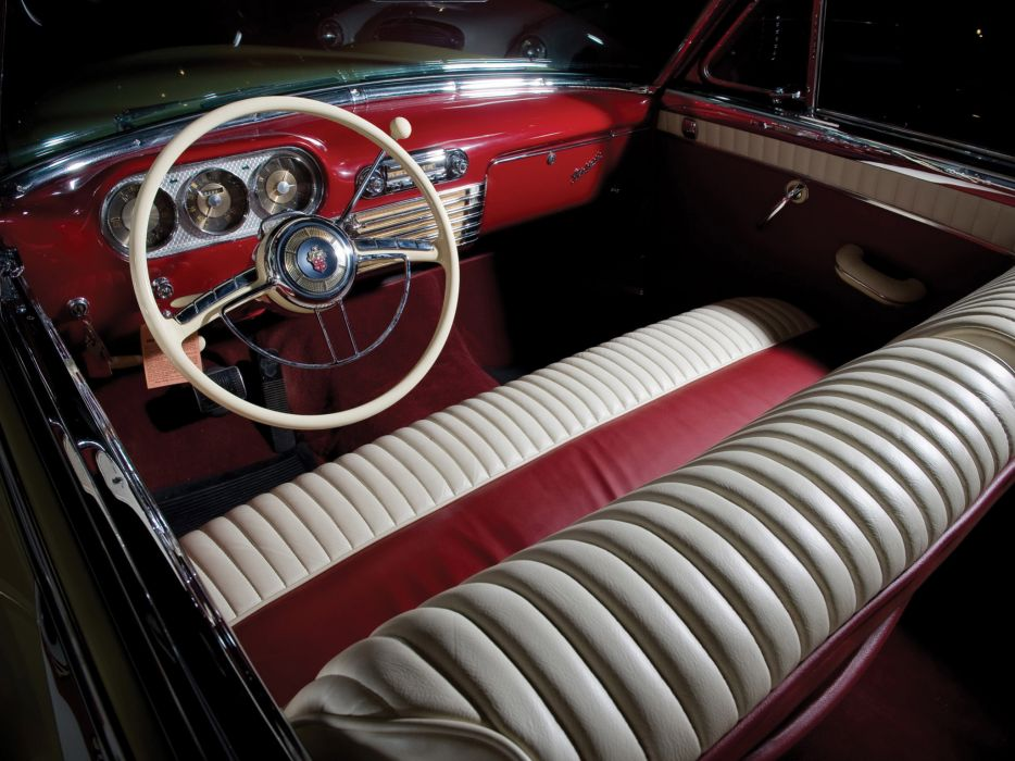 1953 Packard Caribbean Convertible Coupe retro luxury interior wallpaper