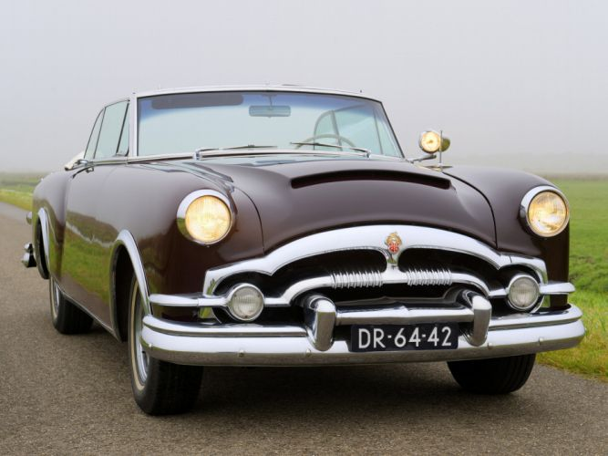 1953 Packard Caribbean Convertible Coupe retro luxury wallpaper