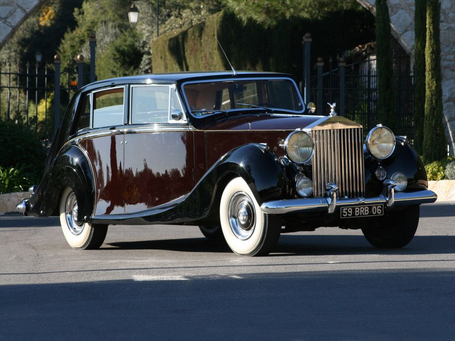 1953 Rolls Royce Silver Wraith Limousine retro luxury     f wallpaper