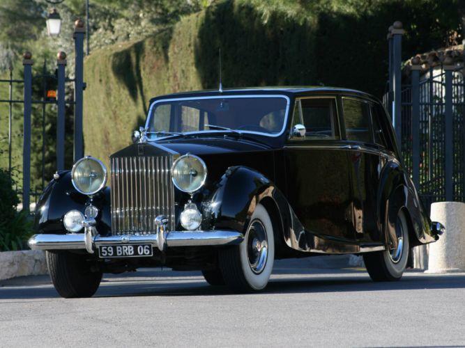 1953 Rolls Royce Silver Wraith Limousine retro luxury wallpaper