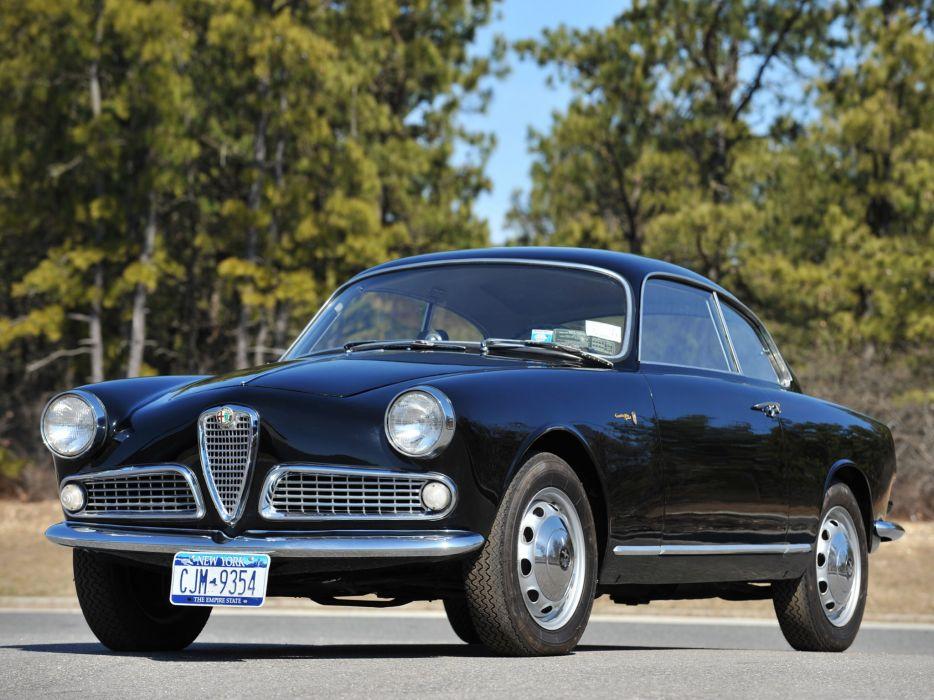 1954 Alfa Romeo Giulietta Sprint Bertone retro wallpaper
