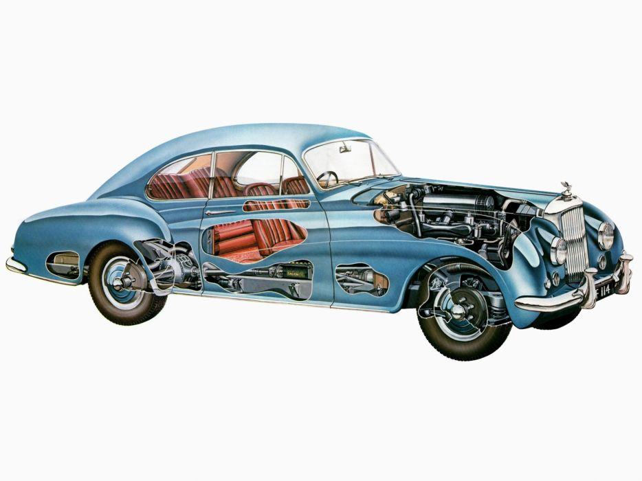 1954 Bentley R-Type Continental Coupe retro luxury interior engine engines wallpaper