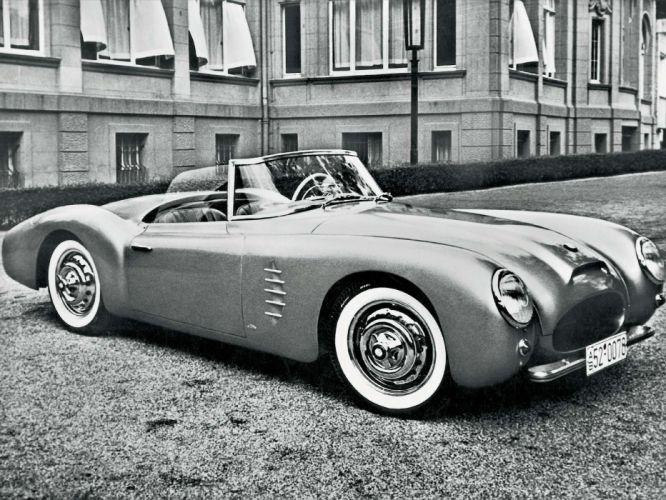 1954 BMW 507 Prototype retro wallpaper