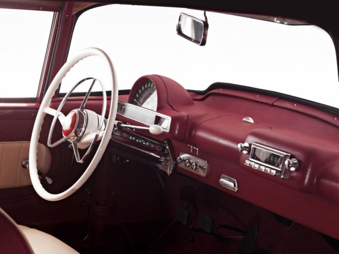 1954 Hudson Italia retro luxury interior wallpaper