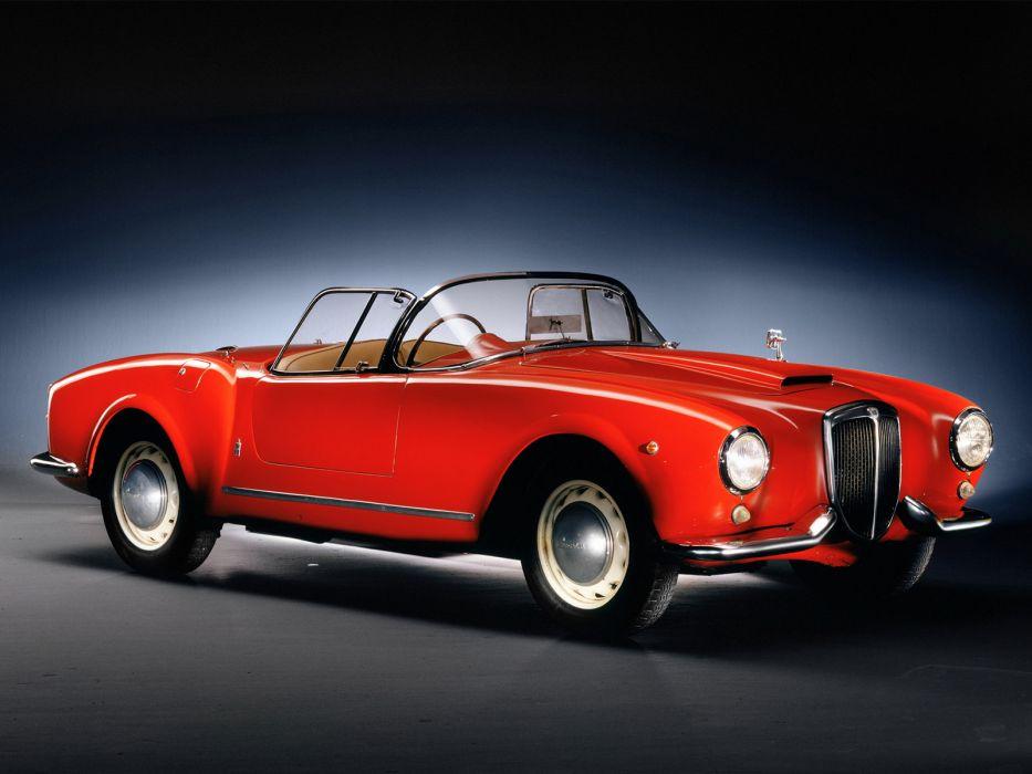 1954 Lancia Aurelia Spyder B24 retro      f wallpaper