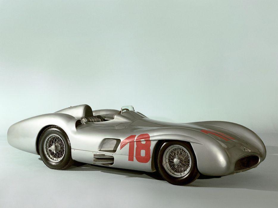 1954 Mercedes Benz 300 SLR Streamliner W196R retro supercar supercars race racing v wallpaper
